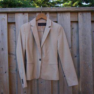 Beige One Button Zara Blazer Jacket